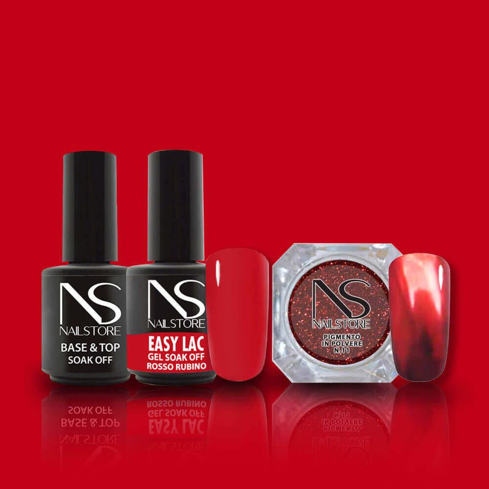 Christmas Kit Nail Art Rosso