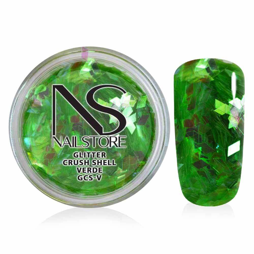 Glitter Crush Shell Verde