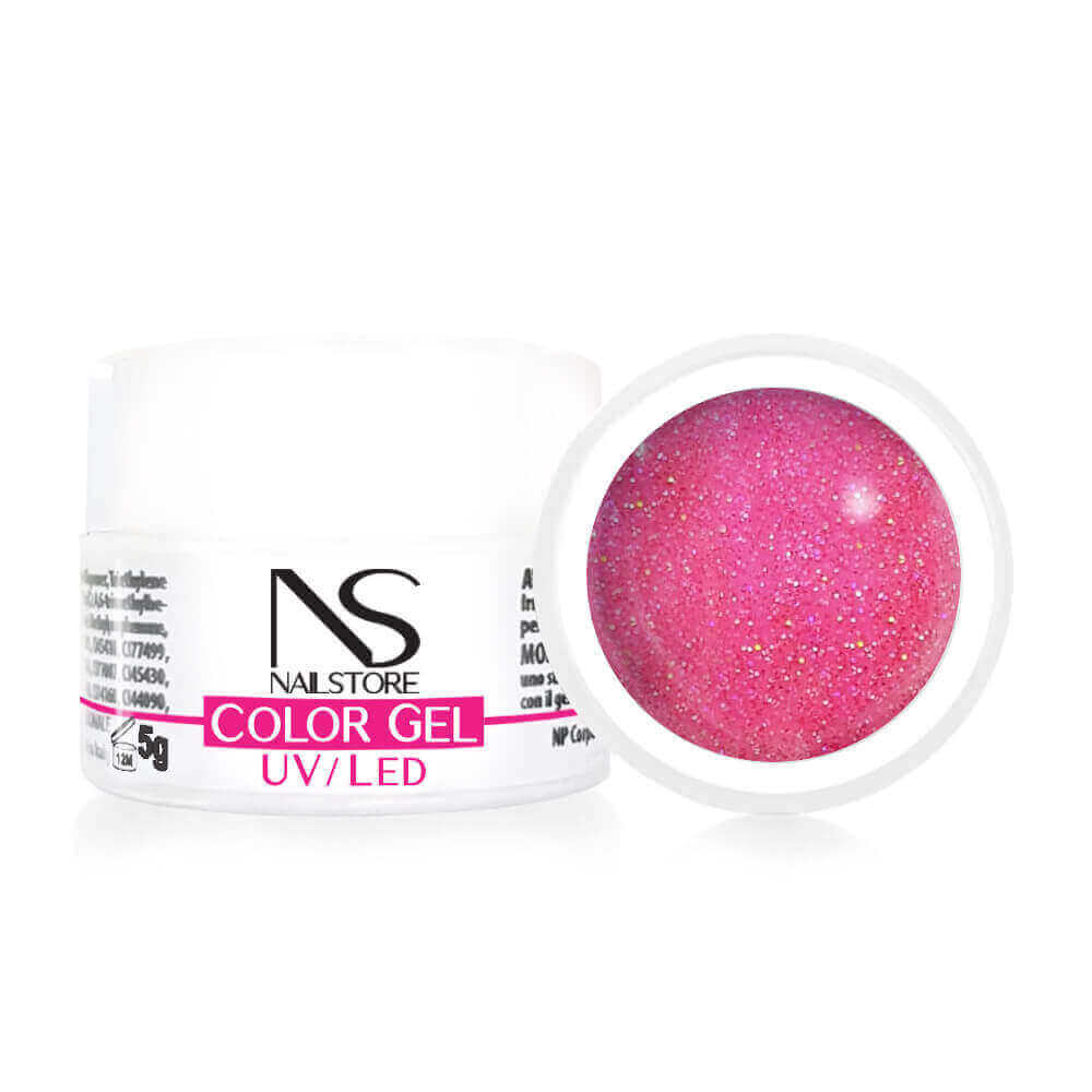 Gel UV / Led Rosa Glitter Olografico 5 g