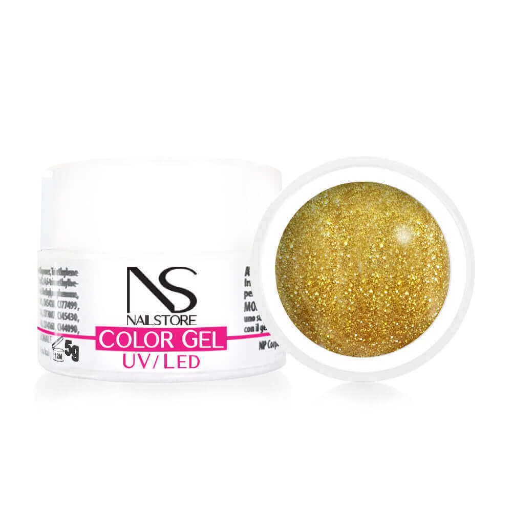 Gel UV Oro Glitter 5 g