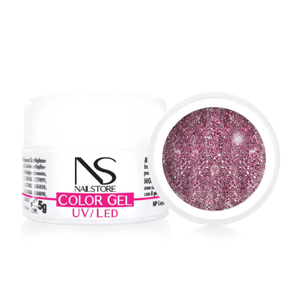 Gel UV / Led Rosa Antico Glitterato 5g