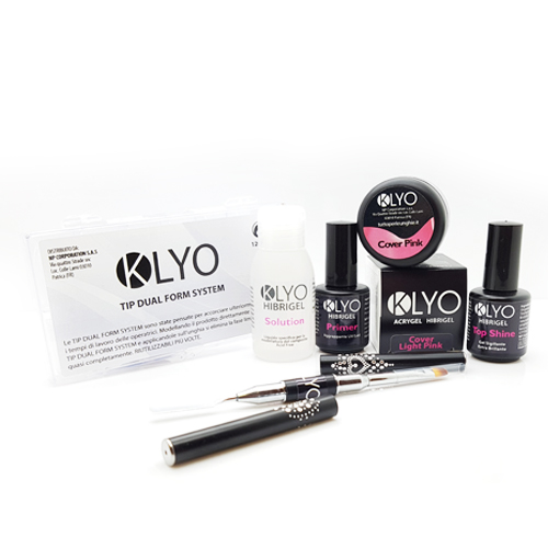 Kit AcriGel HibriGel KLYO con Dual Form e Cover Pink