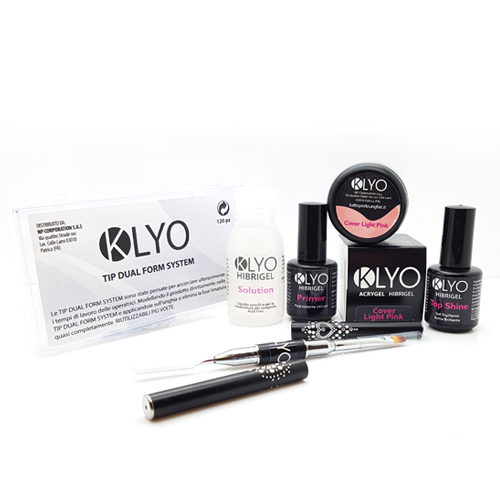 Kit AcriGel HibriGel KLYO con Dual Form e Cover Light Pink