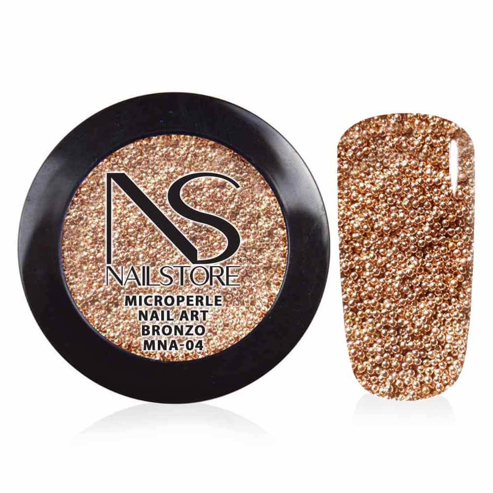 Microperle Nail Art Bronzo
