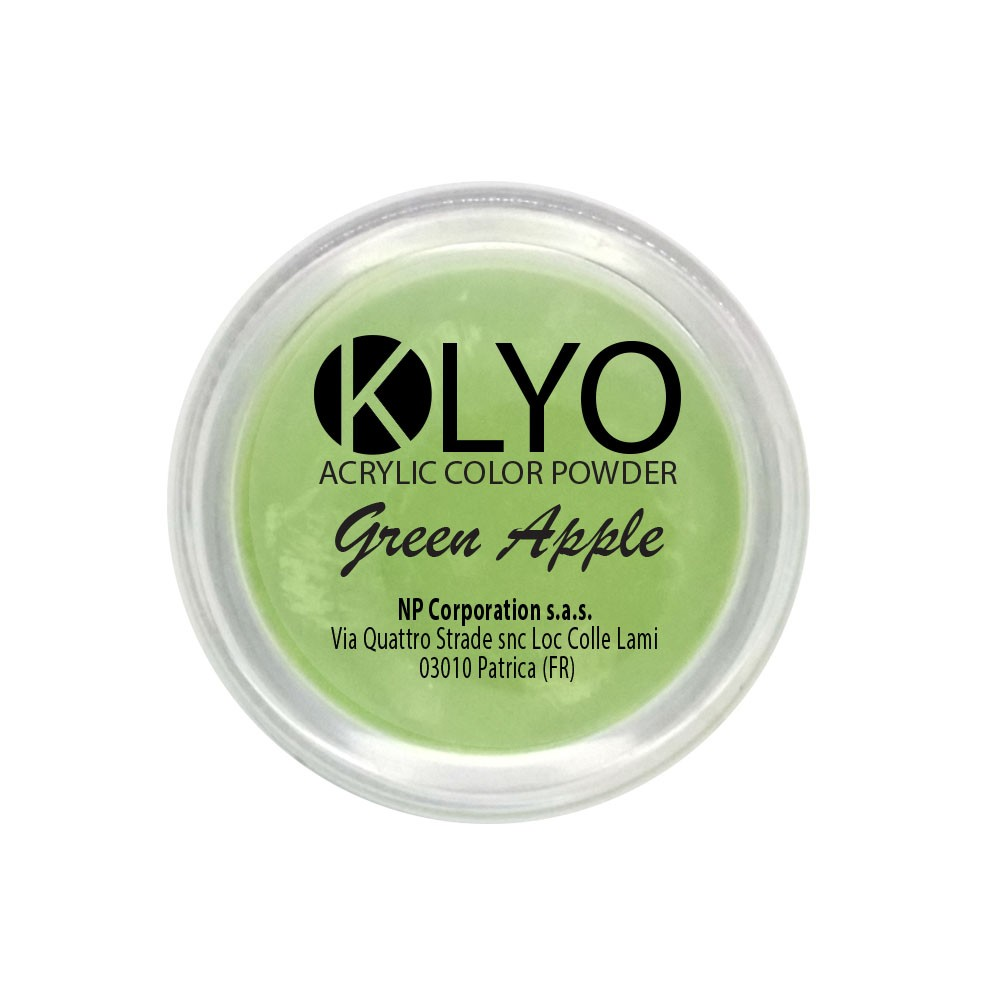 Polvere Acrilica Green Apple 3,5 g