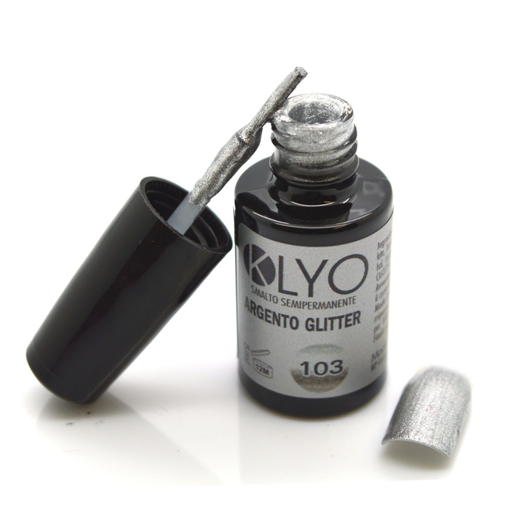 Smalto Semipermanente Klyo Argento Glitter 5 ml