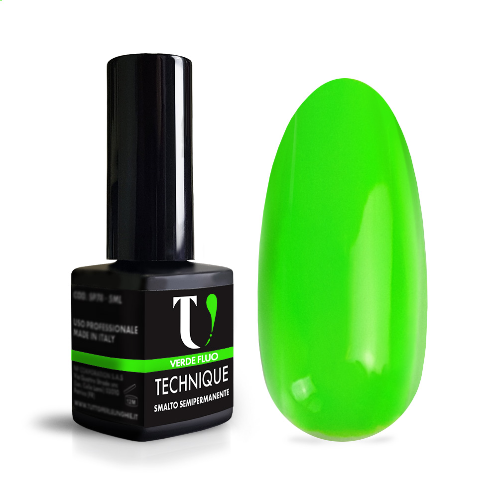 Smalto Semipermanente Verde Fluo 5 ml