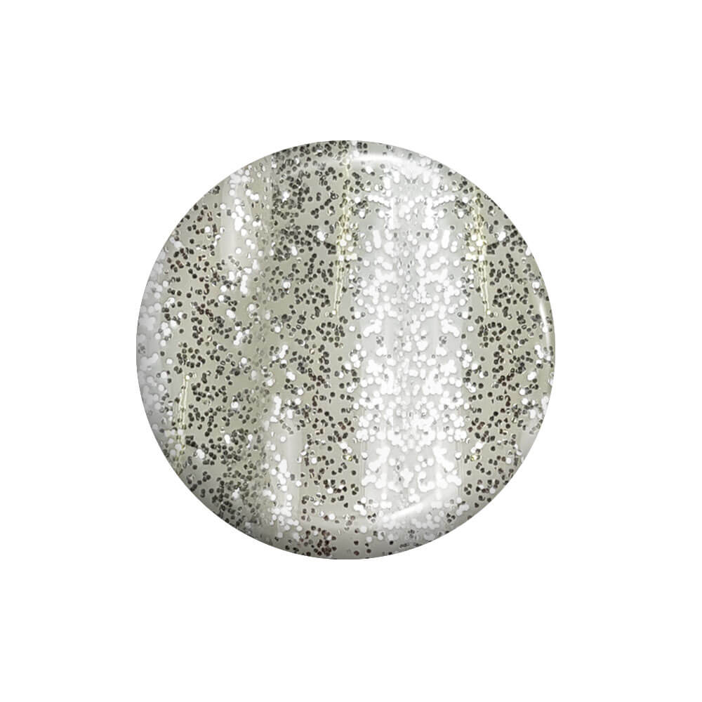 Smalto Semipermanente Argento Glitter 15 ml