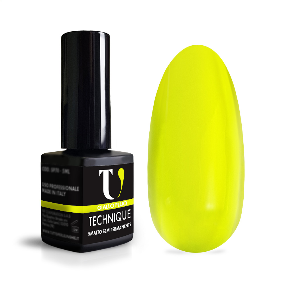 Smalto Semipermanente Giallo Fluo 5 ml