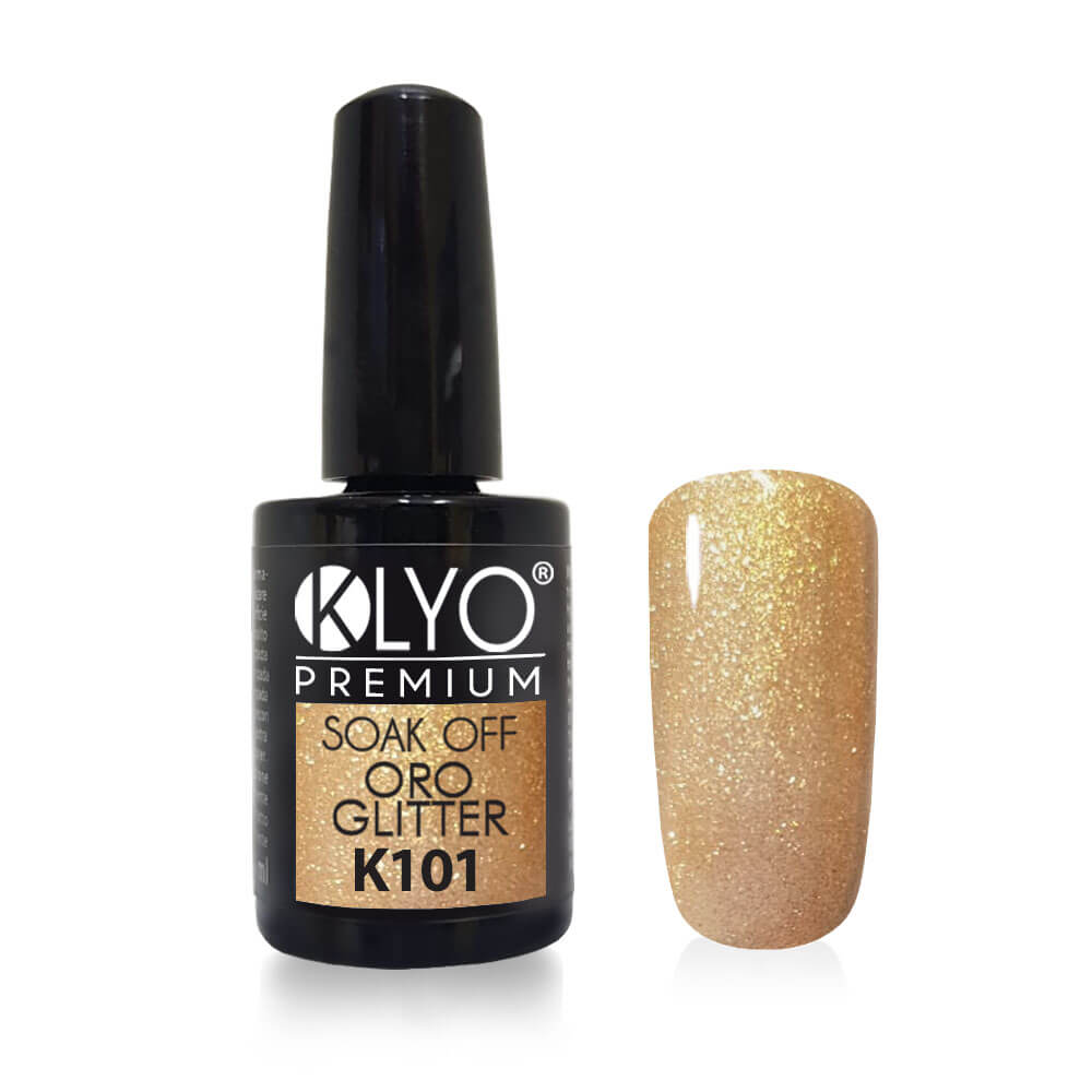 Smalto Semipermanente KLYO Oro Glitter 5 ml