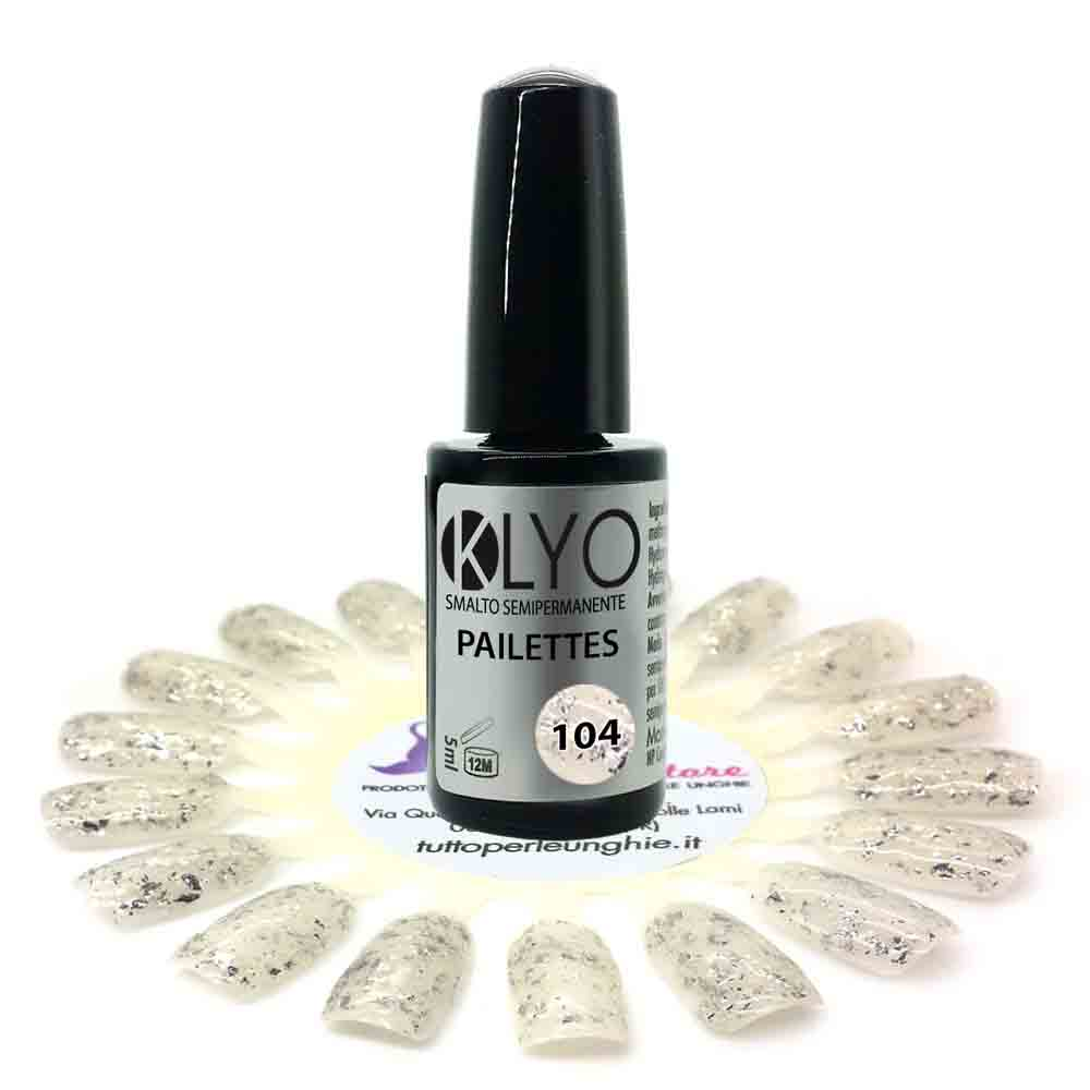 Smalto Semipermanente KLYO Paillettes 5 ml