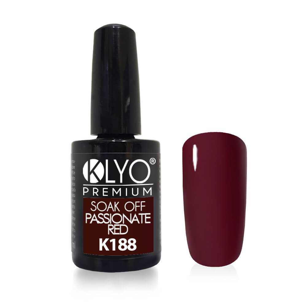 Smalto Semipermanente KLYO Passionate Red 14 ml