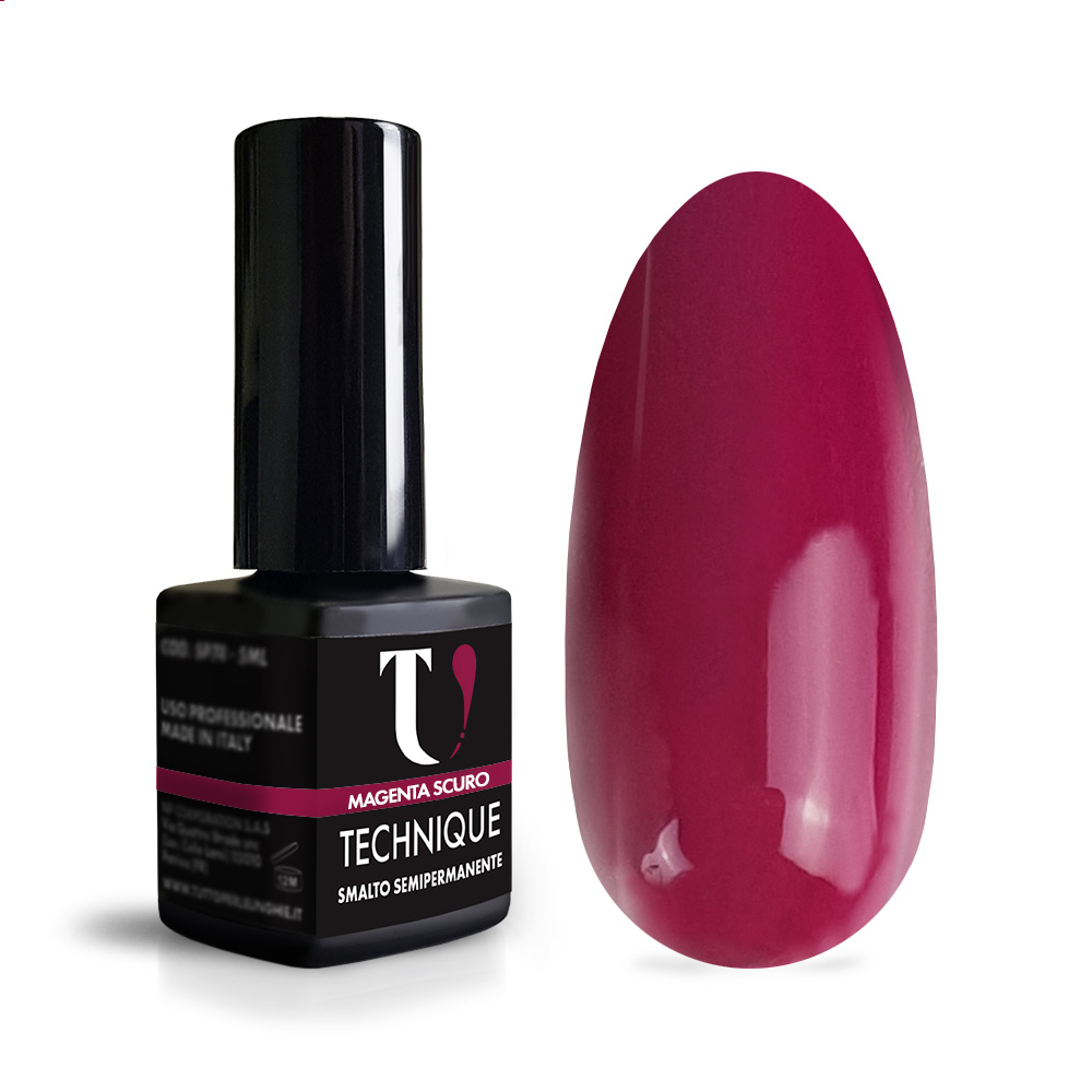 Smalto Semipermanente Magenta Scuro 5 ml