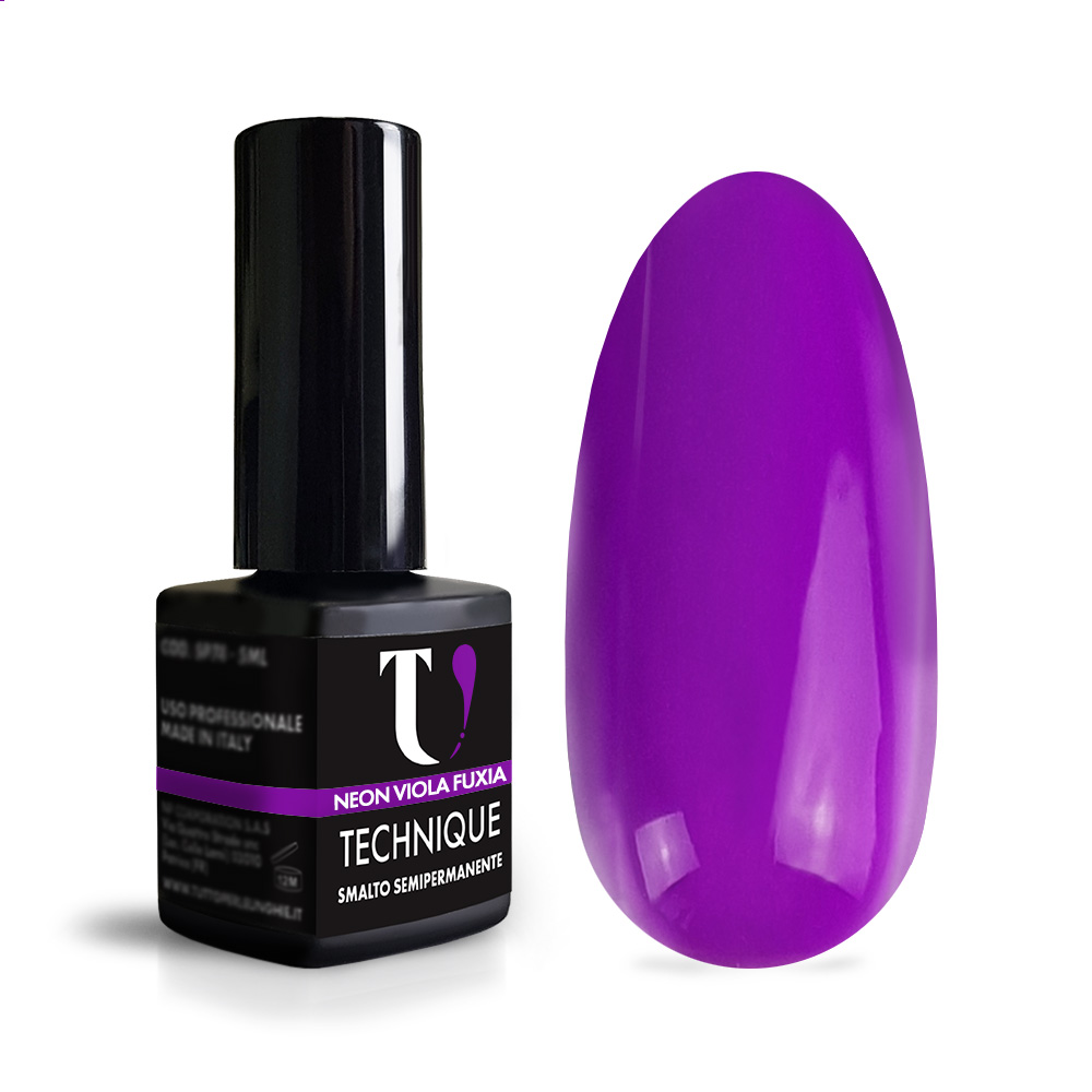 Smalto Semipermanente Neon Viola Fuxia 5 ml