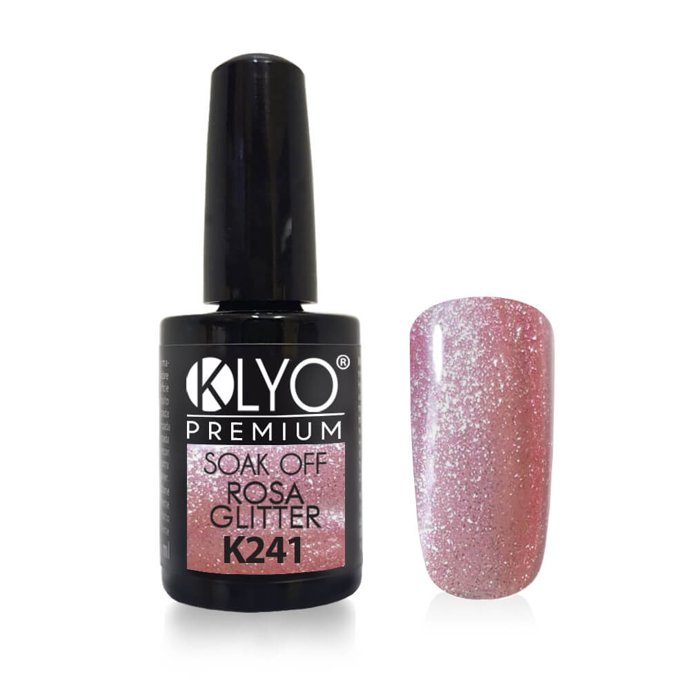 Smalto Semipermanente KLYO Rosa Glitter 14ml