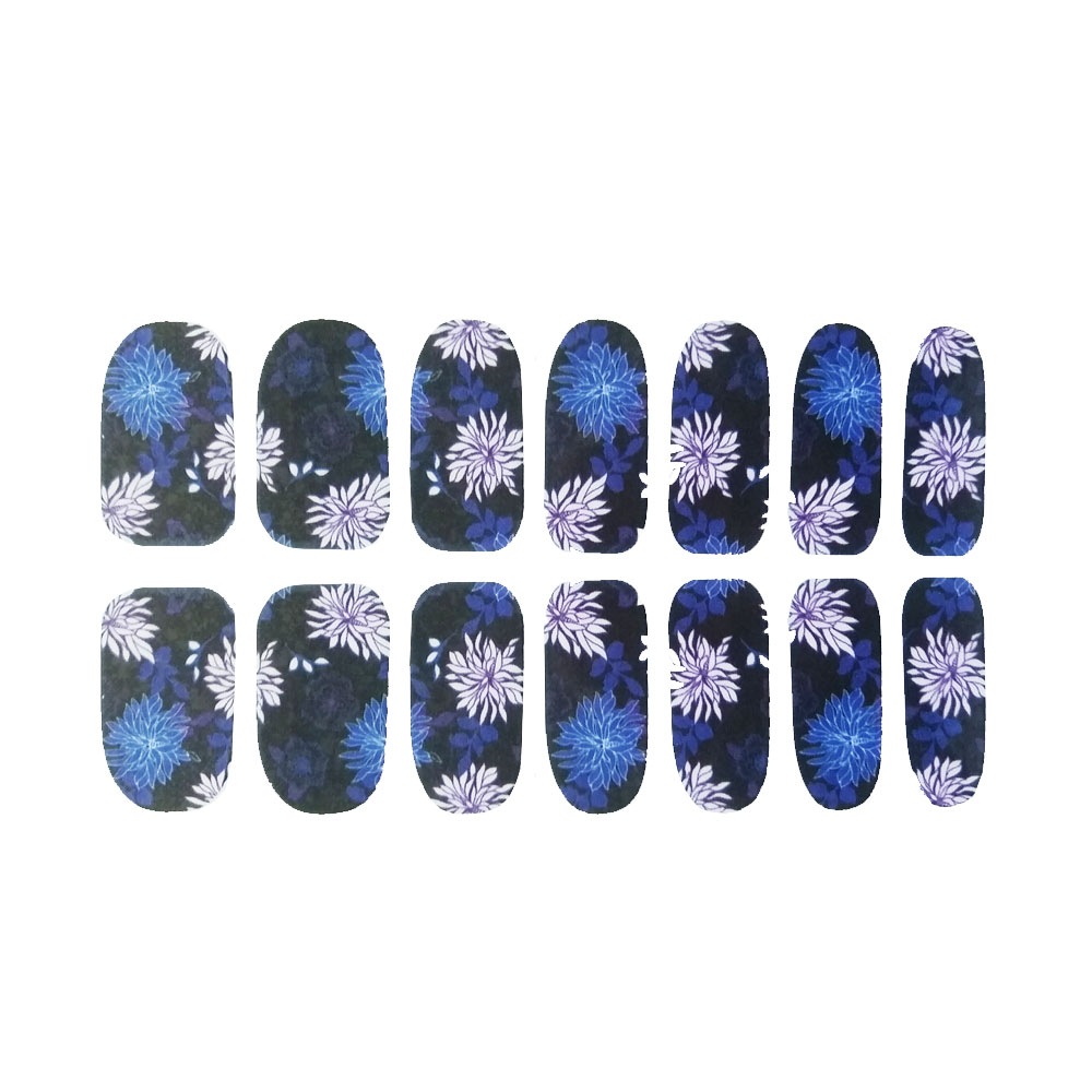 Water Decal Fiori Blu