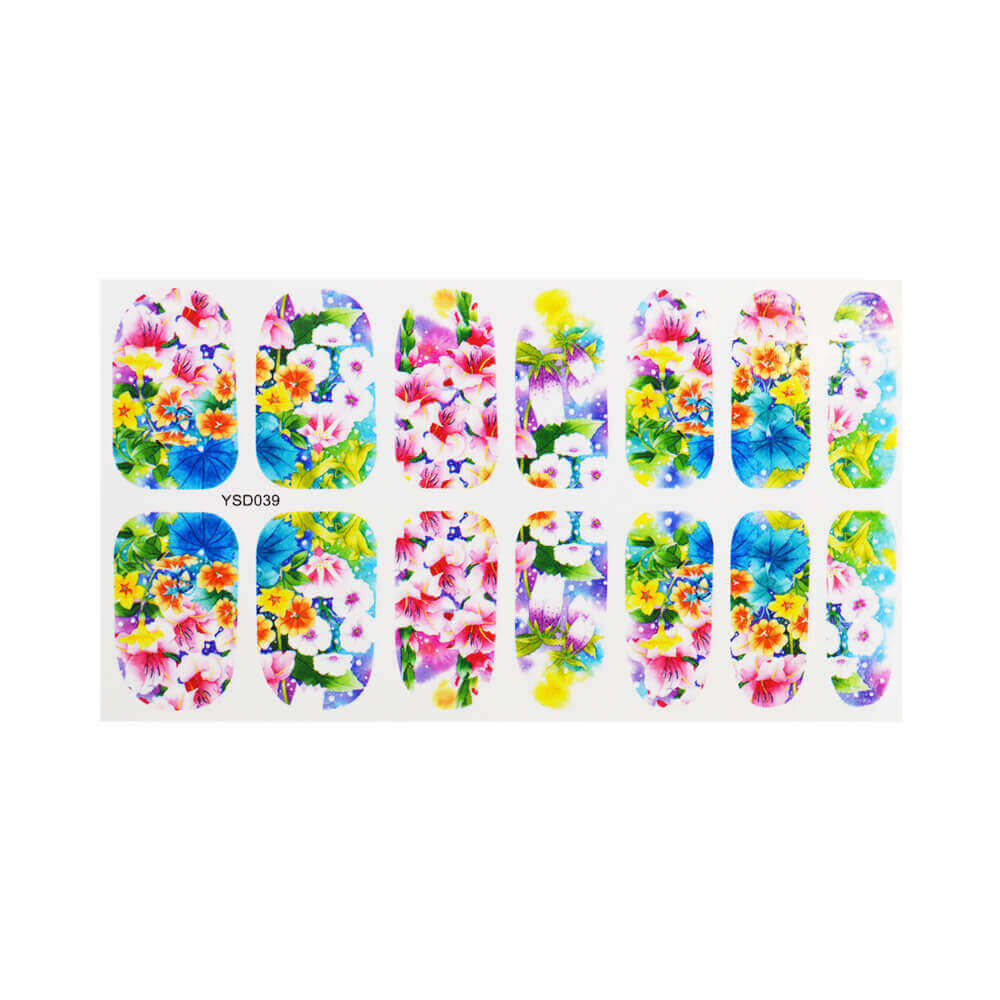 Water Decal Spring Flowers
